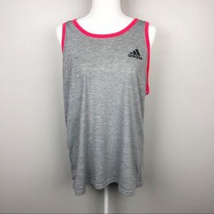 Adidas Gray Workout Tank Top